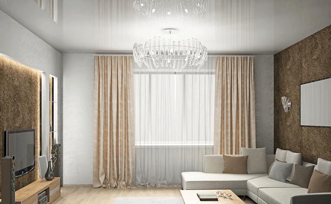 лаковый потолок в гостинную