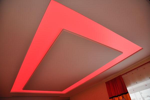 светодиодная лента в натяжной потолок