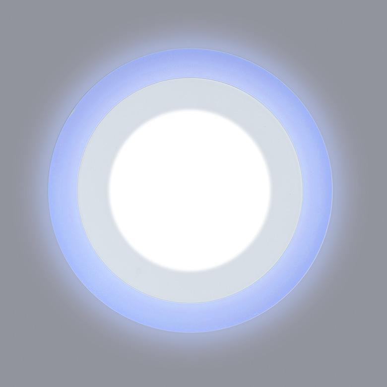 светодиодный светильник с синей подсветкой