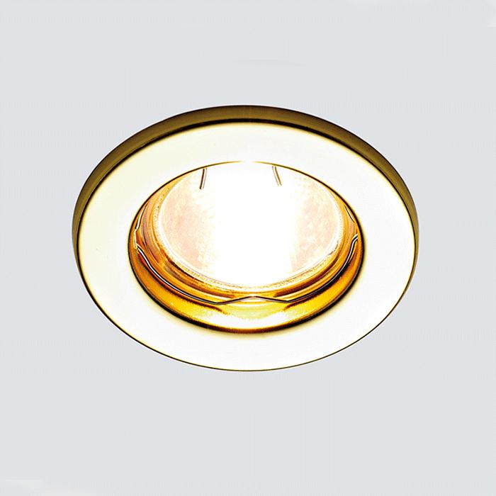 Точечный светильник золото цена