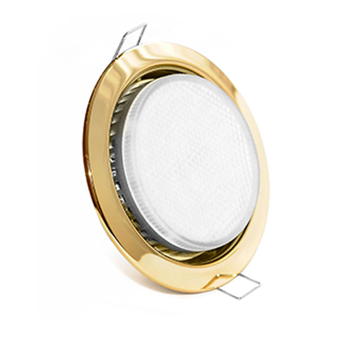 Золотой точечный светильник GX53
