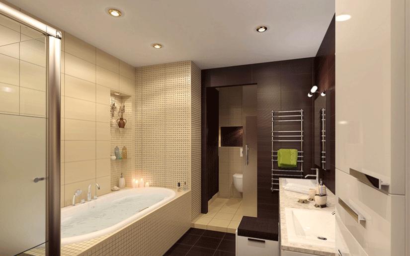 матовый потолок в ванне