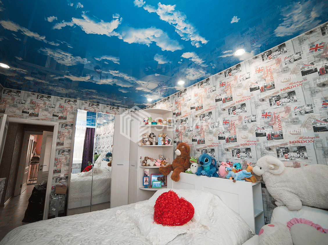 натяжной потолок облака