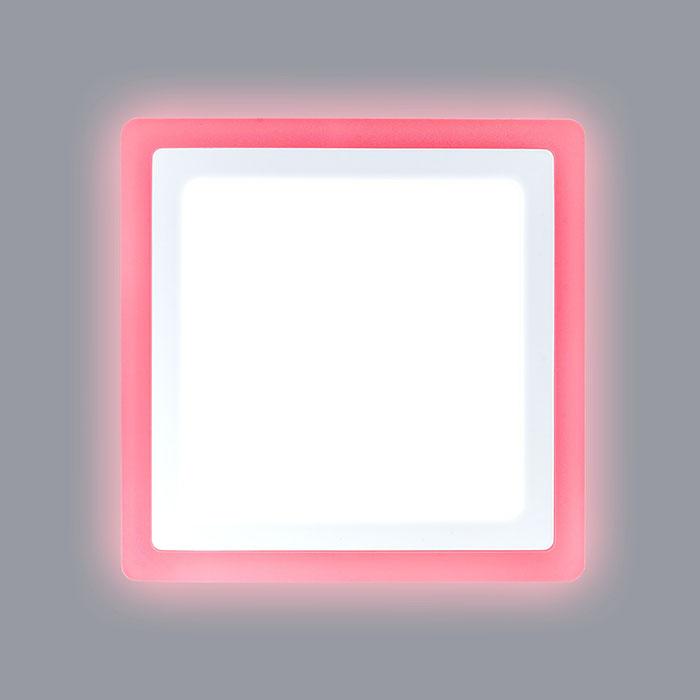 квадратный светодиодный светильник с красной подсветкой
