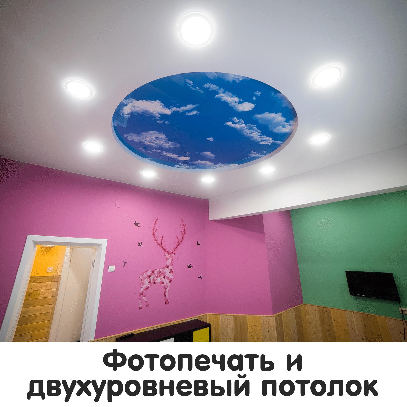 Фотопечать и двухуровневый потолок