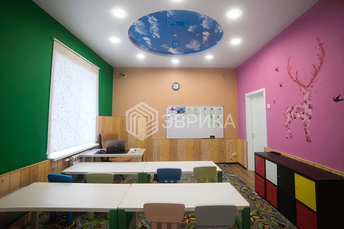 многоуровневый натяжной потолок в детскую